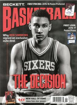 2016 Beckett Basketball Monthly Price Guide (#290 November) (Ben Simmons)