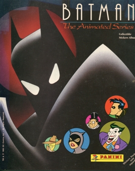 Batman The Animated Series 100 Count Sticker Pack Box With Sticker Album
