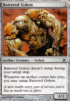 Magic the Gathering Fifth Dawn Single Battered Golem Foil