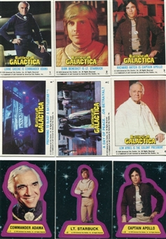 Battlestar Galactica 1978 Topps 132 Card Set + 22 Sticker Set