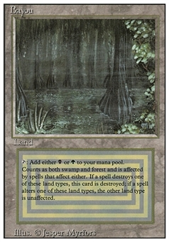Magic the Gathering 3rd Ed (Revised) Single Bayou - SLIGHT PLAY (SP)