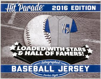2016 Hit Parade Autographed Baseball Jersey Hobby Box - Series 8 - Kirby Puckett & Dustin Pedroia!!!!