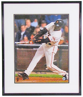 Barry Bonds Autographed & Framed San Francisco Giants 16x20 Photo