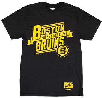 Boston Bruins Reebok Black Hockey Department Tee Shirt (Adult XL)