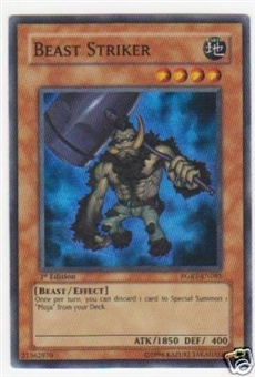 Yu-Gi-Oh Raging Battle Single Beast Striker Super Rare