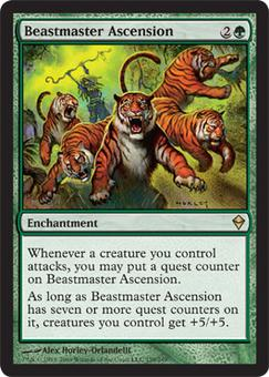 Magic the Gathering Zendikar Single Beastmaster Ascension - NEAR MINT (NM)