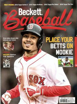2016 Beckett Baseball Monthly Price Guide (#126 September) (Mookie Betts)