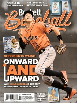 2015 Beckett Baseball Monthly Price Guide (#115 October) (Carlos Correa)