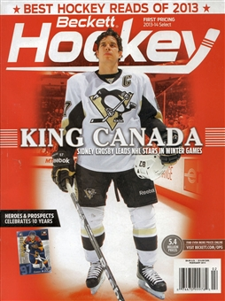 2014 Beckett Hockey Monthly Price Guide (#258 February) (Crosby Canada)