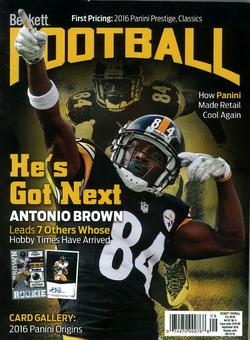 2016 Beckett Football Monthly Price Guide (#308 September) (Antonio Brown)