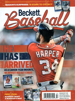 2015 Beckett Baseball Monthly Price Guide (#114 September) (Bryce Harper)