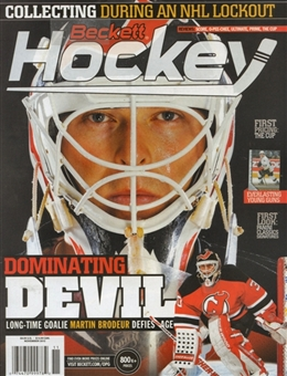 2012 Beckett Hockey Monthly Price Guide (#243 November) (Brodeur)