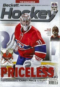 2017 Beckett Hockey Monthly Price Guide (#295 March) (Carey Price)