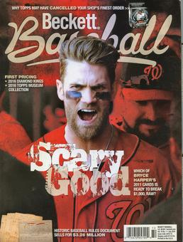 2016 Beckett Baseball Monthly Price Guide (#124 July) (Bryce Harper)