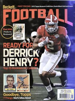 2016 Beckett Football Monthly Price Guide (#304 May) (Derrick Henry)