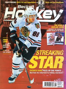 2016 Beckett Hockey Monthly Price Guide (#282 February) (Patrick Kane)