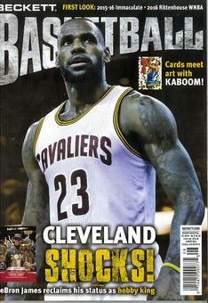 2016 Beckett Basketball Monthly Price Guide (#287 August) (LeBron James)