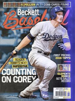 2016 Beckett Baseball Monthly Price Guide (#122 May) (Corey Seager)