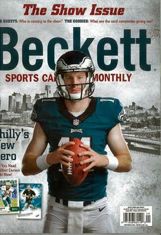 2016 Beckett Sports Card Monthly Price Guide (#377 August) (Carson Wentz)