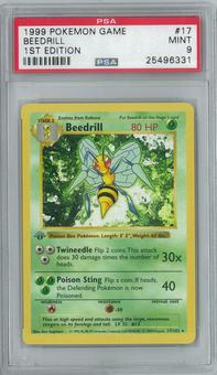 Pokemon Base Set 1 1st Edition Shadowless Single Beedrill 17/102 - PSA 9