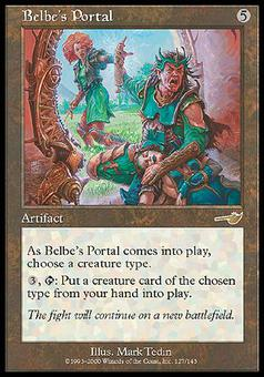 Magic the Gathering Nemesis Single Belbe's Portal - NEAR MINT (NM)