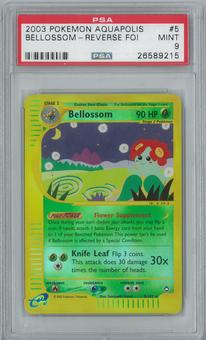Pokemon Aquapolis Bellossom 5/147 Reverse Foil PSA 9
