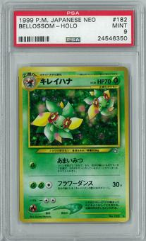 Pokemon Japanese Neo Genesis Gold Silver to a New World Bellossom Holo Rare PSA 9