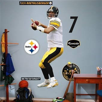 Ben Roethlisberger Pittsburgh Steelers Fathead Life Sized Wall Graphic
