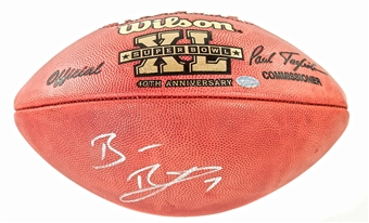 Ben Roethlisberger Autographed Pittsburgh Steelers Super Bowl XL Football (Mounted Memories)