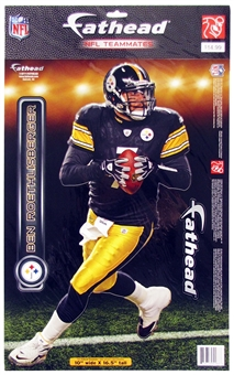 "Ben Roethlisberger Pittsburgh Steelers 10""x16.5"" Fathead - Regular Price $14.95 !!!"