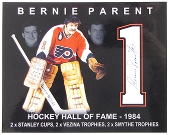 Bernie Parent Autographed Philadelphia Flyers 8x10 Photo Icebox COA
