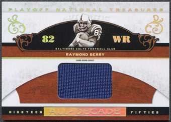 2007 Playoff National Treasures All Decade Material Jumbo #RBE Raymond Berry 4/6 Jersey