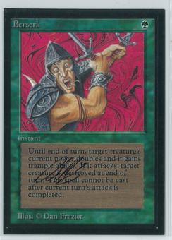 Magic the Gathering Beta Artist Proof Berserk - SIGNED & ALTERED BY DAN FRAZIER!