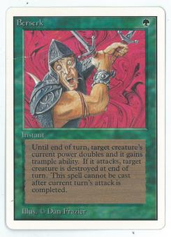 Magic the Gathering Unlimited Single Berserk - NEAR MINT/DAMAGED (see image)