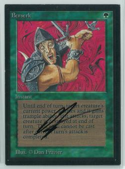 Magic the Gathering Beta Artist Proof Berserk - SIGNED BY DAN FRAZIER