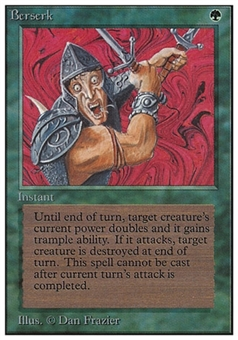 Magic the Gathering Unlimited Single Berserk - HEAVY PLAY (HP)