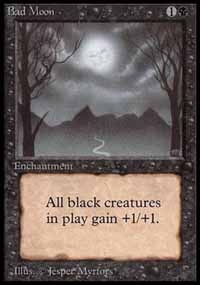 Magic the Gathering Beta Single Bad Moon UNPLAYED (NM/MT)