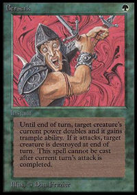 Magic the Gathering Beta Single Berserk - SLIGHT PLAY (SP)