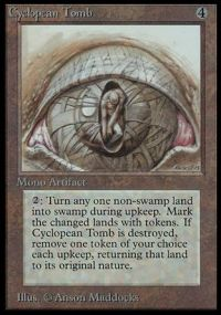 Magic the Gathering Beta Single Cyclopean Tomb LIGHT PLAY (NM)