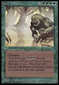Magic the Gathering Beta Single Force of Nature - NEAR MINT (NM)