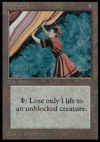 Magic the Gathering Beta Single Forcefield - SLIGHT PLAY plus (SP+)