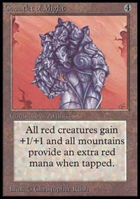 Magic the Gathering Beta Single Gauntlet of Might UNPLAYED (NM/MT)