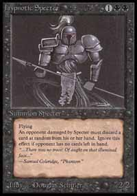 Magic the Gathering Beta Single Hypnotic Specter - SLIGHT PLAY (SP)