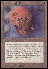 Magic the Gathering Beta Single Illusionary Mask HEAVY PLAY