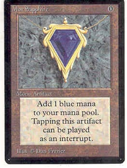 Magic the Gathering Beta Single Mox Sapphire - SLIGHT PLAY (SP)