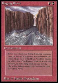 Magic the Gathering Beta Single Raging River - SLIGHT PLAY (SP)