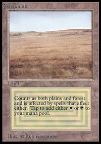 Magic the Gathering Beta Single Savannah - NEAR MINT (NM)