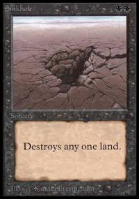 Magic the Gathering Beta Single Sinkhole LIGHT PLAY (NM)