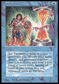 Magic the Gathering Beta Single Timetwister UNPLAYED (NM/MT)