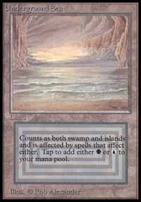 Magic the Gathering Beta Single Underground Sea - NEAR MINT (NM)